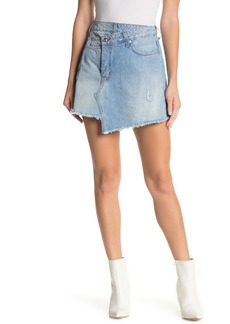Derek Lam Cleo A-Line Wrap Denim Skirt