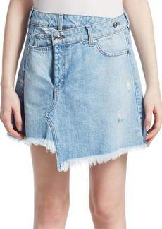 Derek Lam Cleo Faux Wrap Denim Mini Skirt
