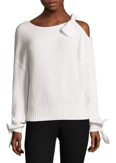 Derek Lam Cold-Shoulder Cashmere Sweater