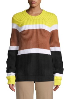 Derek Lam Colorblock Roundneck Sweater