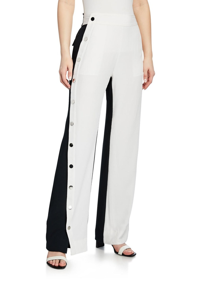 Derek Lam Colorblock Snap Side Track Pants