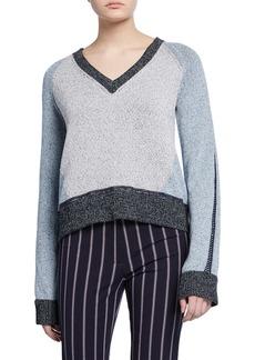 Derek Lam Colorblock V-Neck Sweater