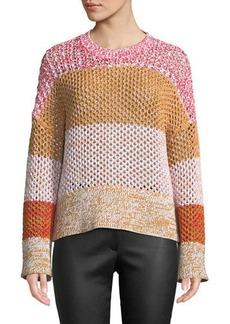 Derek Lam Colorblocked Gradient Knit Sweater