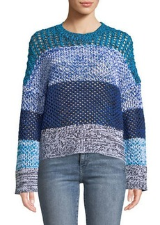 Derek Lam Colorblocked Gradient Knit Sweater