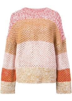 Derek Lam Colorblocked Gradient Sweater