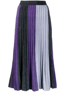 Derek Lam colourblock pleated midi skirt