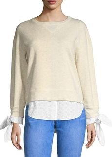 Derek Lam Combo Shirttail Sweater