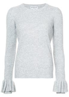 Derek Lam Crewneck Sweater With Ruffle Sleeves