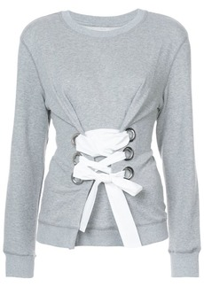 Derek Lam Crewneck Sweatshirt With Lacing Detail