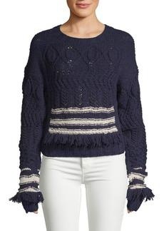 Derek Lam Crewneck Wool and Silk Pullover