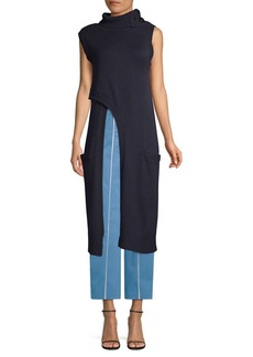 Derek Lam Criss-Cross Cashmere Turtleneck Tunic