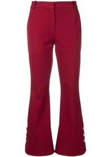 Derek Lam Cropped Crosby Cotton Twill Flare Trousers with Sailor Buttons