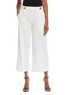 Derek Lam Cropped Flare-Leg Trousers with Split Hem