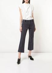 Derek Lam braided trim striped trousers