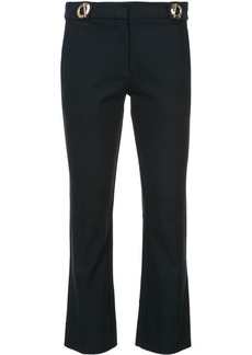 Derek Lam Cropped Flare Trouser With Grommet Detail