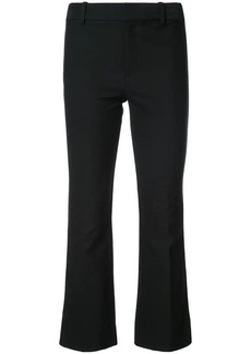 Derek Lam Cropped Flare Trouser with Tuxedo Piping