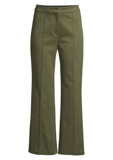 Derek Lam Cropped Flare Twill Trousers