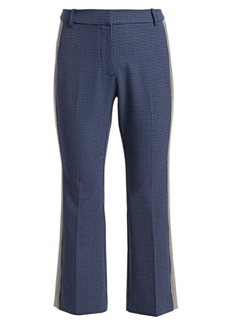 Derek Lam Cropped Gingham Flare Pants