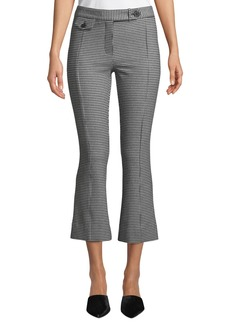 Derek Lam Cropped Gingham Flare Trousers