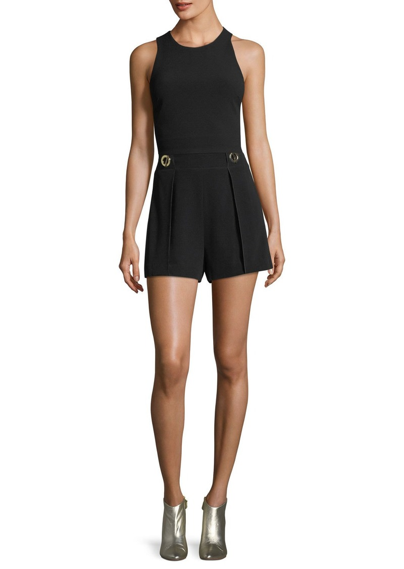 Derek Lam Cropped Shell Top with Elastic Back