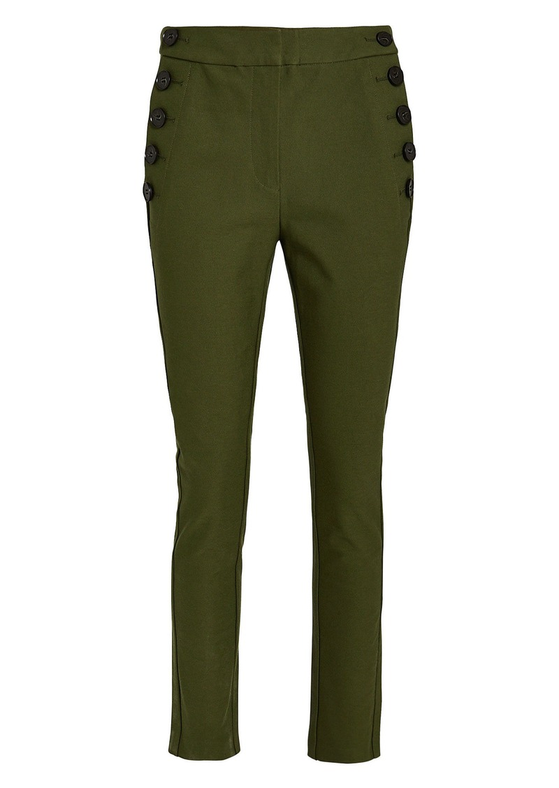 Derek Lam Cropped Twill Sailor Trousers