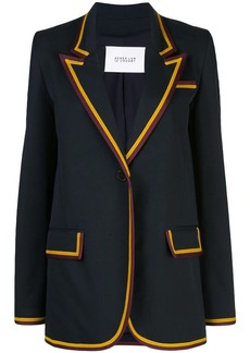 Derek Lam Crosby Twill Blazer with Rib Trim