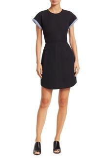 Derek Lam Crosby Twill Short-Sleeve Dress