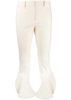 Derek Lam Daria Ruffle Cropped Flare Crosby Cotton Twill Trouser