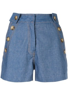 Derek Lam Denim Short with Button Detail