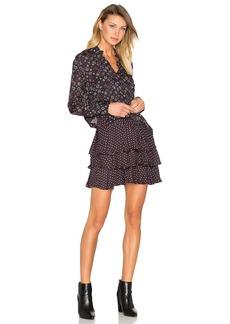 DEREK LAM 10 CROSBY 2-in-1 Ruffle Shirt Dress