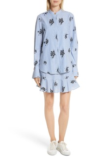 Derek Lam 10 Crosby 2-in-1 Ruffled Shirtdress