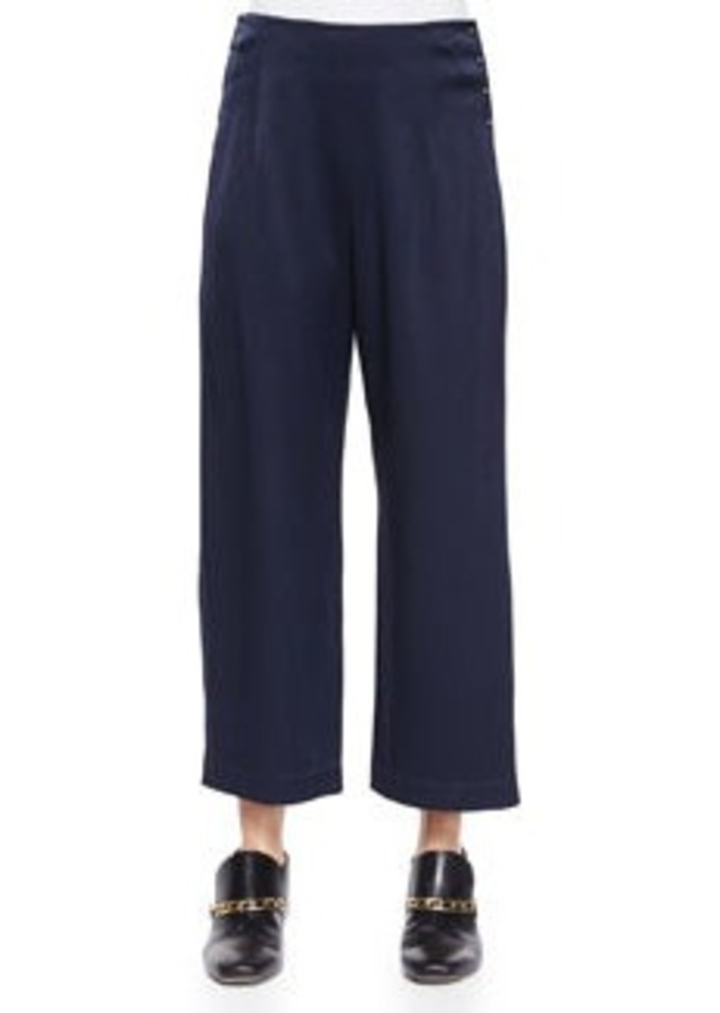 10 Crosby Derek Lam High-Waist Cropped Trousers W/ Saddle Studs