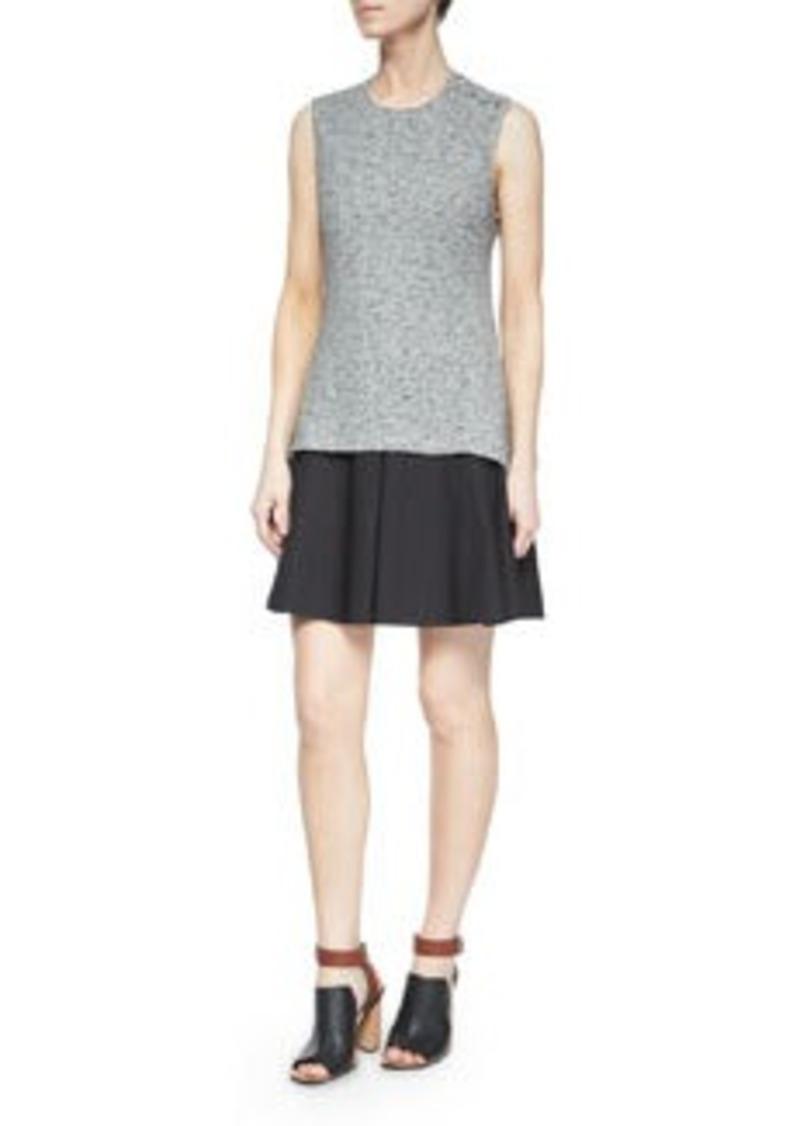 10 Crosby Derek Lam Sleeveless Cutout-Back Flared Skirt Dress