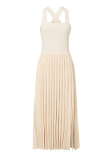 Derek Lam Pleated Skirt Midi Dress