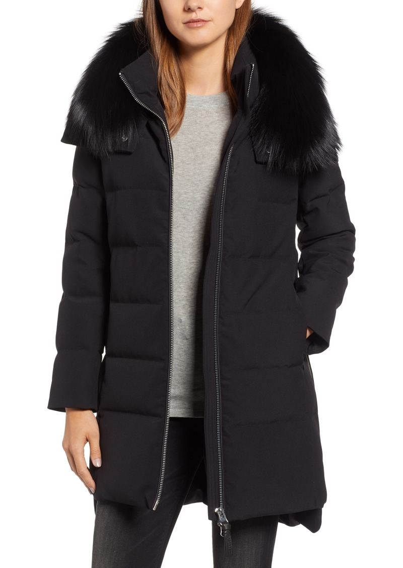 3d3ee6b7e1178 Derek Lam Derek Lam 10 Crosby Allover Stretch Down Coat with Genuine ...