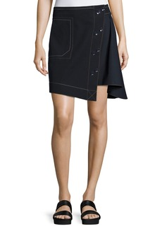 Derek Lam 10 Crosby Asymmetric A-line Combo Skirt
