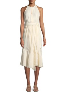Derek Lam 10 Crosby Asymmetric Silk Tank Dress