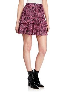 Derek Lam 10 Crosby Asymmetrical Ruffle Tulip Mini Skirt