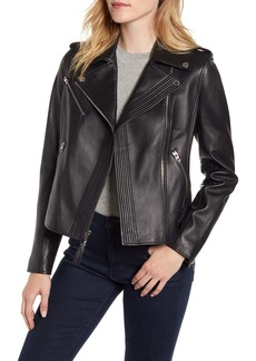 Derek Lam 10 Crosby Asymmetrical Zip Leather Moto Jacket