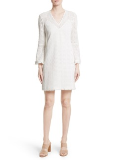 Derek Lam 10 Crosby Bell Sleeve Crochet Shift Dress