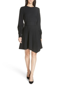 Derek Lam 10 Crosby Belted Asymmetrical Dress