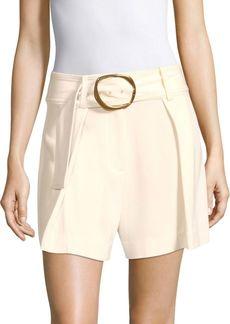 Derek Lam Belted Crepe Shorts
