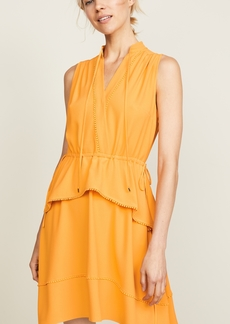 Derek Lam 10 Crosby Belted Dress with Tiered Skirt