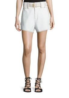 Derek Lam 10 Crosby Belted Mid-Rise Shorts