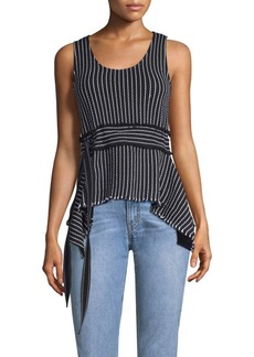 Derek Lam Belted Stripe Tank Top