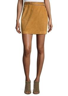 Derek Lam 10 Crosby Belted Suede Wrap Skirt