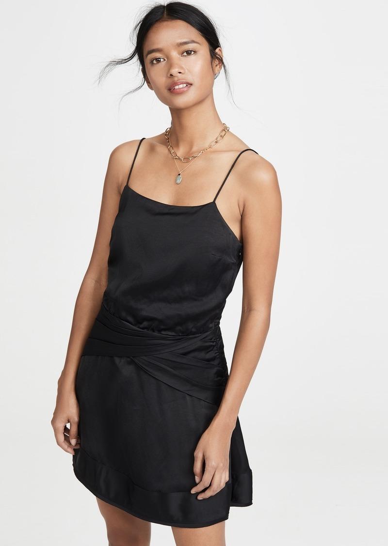Derek Lam 10 Crosby Cami Flounce Mini Dress with Twist Waist Detail