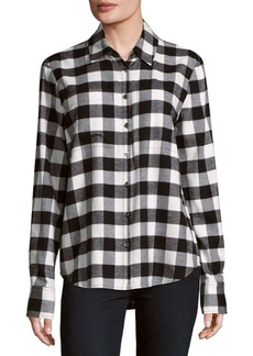 Derek Lam 10 Crosby Checkered Button-Down Shirt