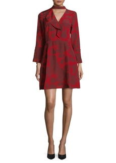 Derek Lam 10 Crosby Choker-Neck Silk Fit-&-Flare Dress