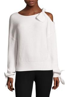 Derek Lam Cold-Shoulder Cashmere Sweater